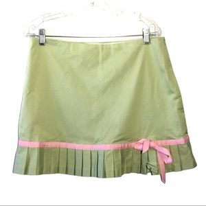 Ruth Green & Pink A-Line Skirt with Bow 10